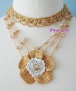 Крючково-бисерные украшения очень красивые