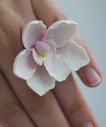 Украшения - Весенние цветы из запекаемой полимерной глины от Irina Oushen