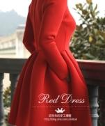 Выкройка красного новогоднего платья