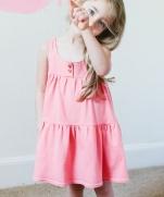 Платье для девочки с выкройкой, шьется очень быстро и просто.
