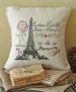 Вышиваем стильную подушечку. Париж. Париж...