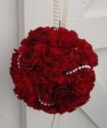 Как сделать букет-шарик из живых цветов