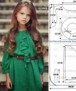 Платье для девочки 6-7 лет. Выкройка
