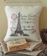 Париж - вышивка подушки