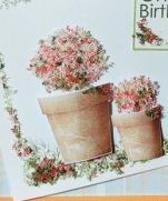 Открытка с пушистыми цветами  (Flower soft)