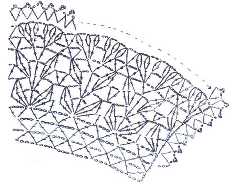 Вязаный воротничок