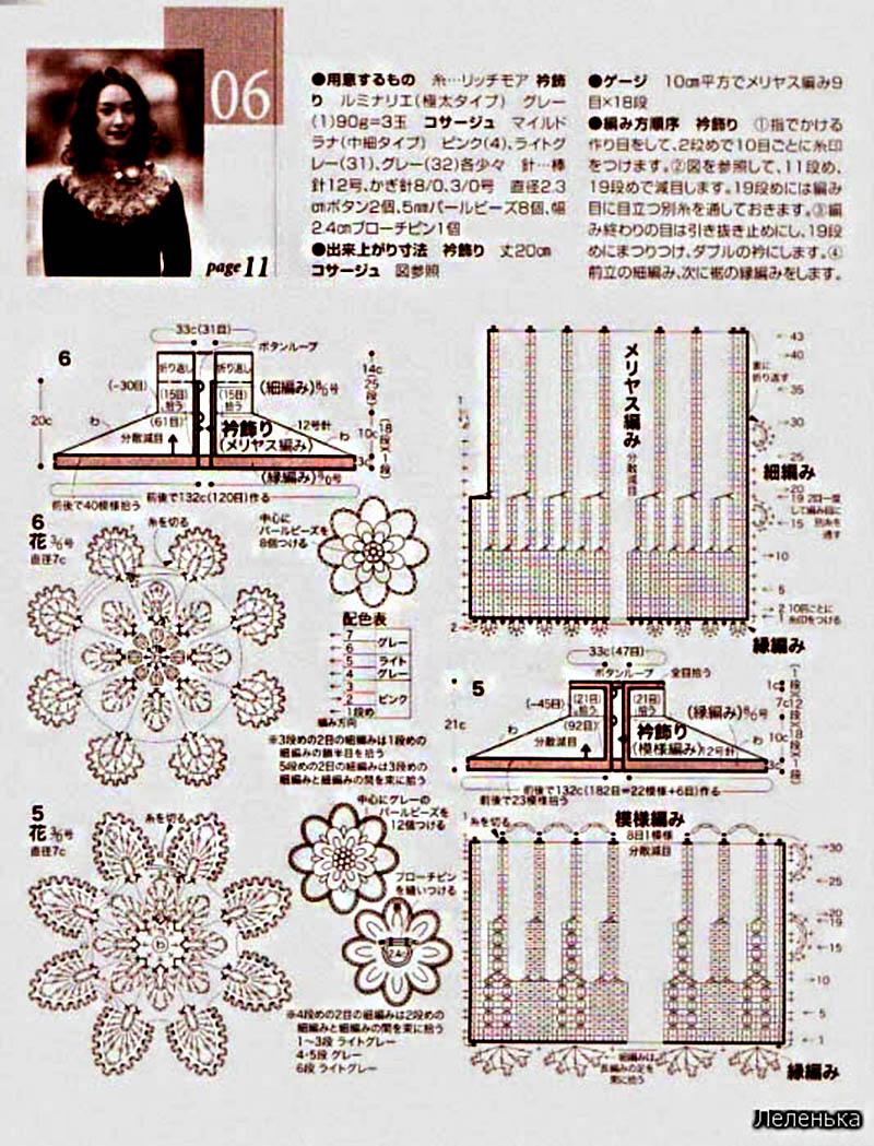 вязание шапок по японским журналам со схемами