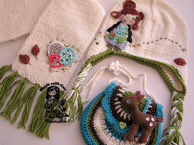 Вязаные украшения для одежды своими руками