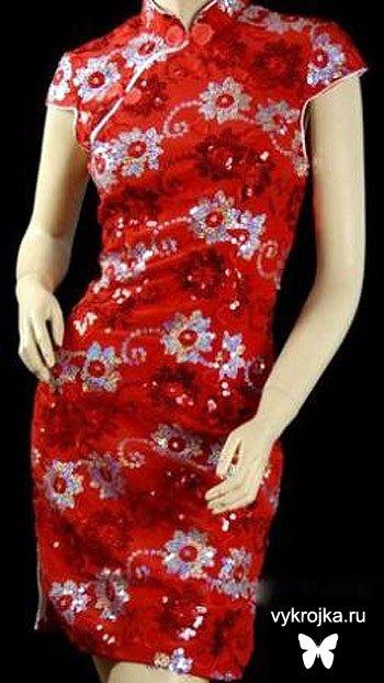 Платье японского стиля выкройки